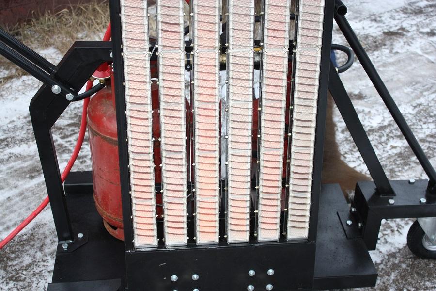 Передвижная мини установка инфракрасного нагрева асфальта  SVT-98