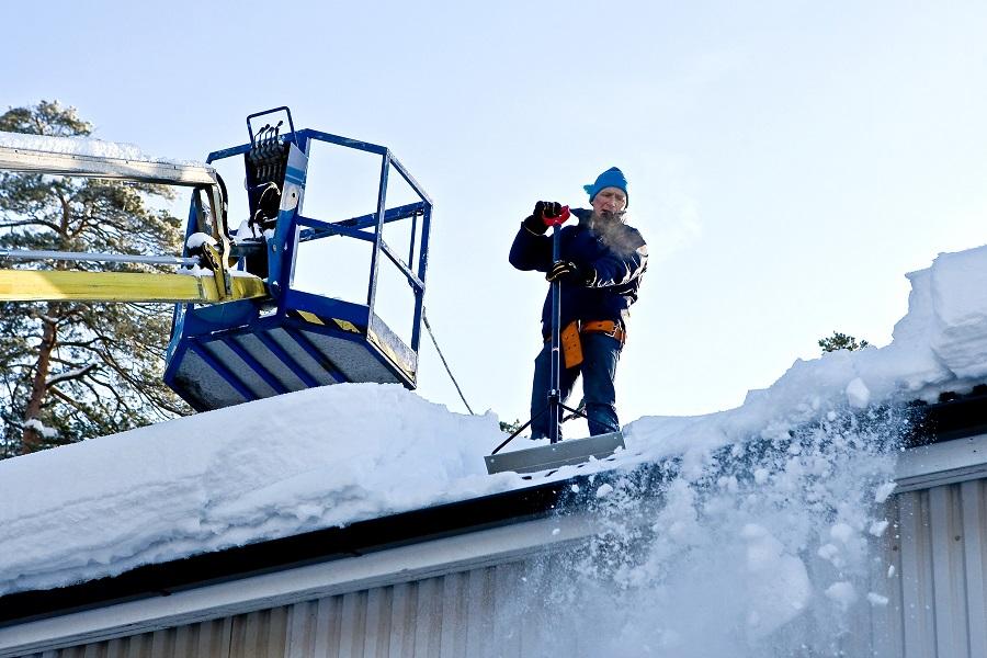 Ручной сбрасыватель (скребок) для уборки снега с крыш - профиль T